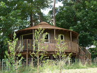 Luxury eco-lodge tree houses attract visitors to Sussex