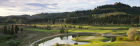 New golf greens in Tuscany