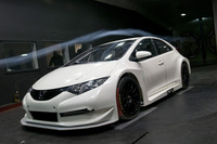 New Honda Civic BTCC race car put into action