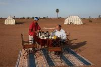 Al fresco breakfast in the Sahara Desert