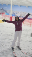 Kelly Holmes on the Snow!