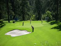 Golf & Bridge at Kulm Hotel St Moritz in summer 2012