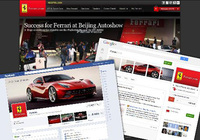 Ferrari a leader on social networks