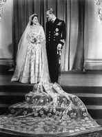 Elizabeth Queen of frocks - wedding dress named favourite outfit
