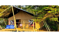 Safari tent lodges with sea views on the Isle of Wight