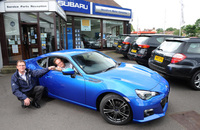 Hotly-anticipated Subaru BRZ delivered to first UK customer