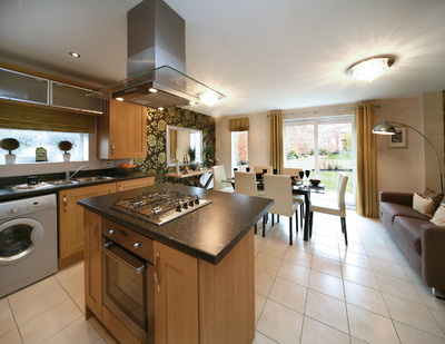 Viewing essential at exclusive new homes venture in crosby for Open plan lounge kitchen and dining room ideas