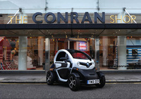 Red-hot Twizy lights-up the Conran Shop window