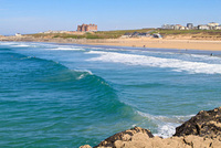 September's swell in Newquay, Cornwall