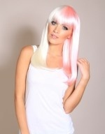 Pink wigs for Breast Cancer Awareness Month