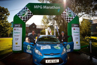 "Ford Fiesta goes over a ""ton"" in epic MPG Marathon"