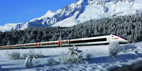 New Swiss Alps Ski Train