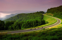 Motor biking along West Virginia's country roads