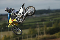 New models and classic race bikes with Suzuki at the Dirt Bike Show