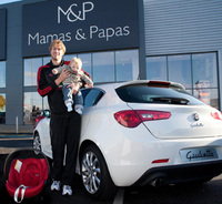 Alfa Romeo joins Mamas & Papas in the drive for child seat safety
