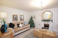 Rochdale show home dressed for Christmas