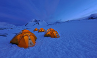 Spend the night camping like an explorer in Antarctica