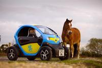 Glide around the New Forest in a Twizy electric car