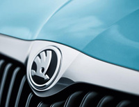 New Skoda logo for the Fabia and the Roomster