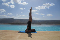 Springtime yoga in the Mediterranean