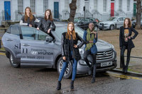 Storm Models take delivery of stylish wheels for London Fashion Week