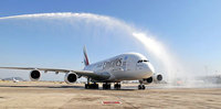 Emirates A380 touches down in Barcelona for the first time