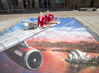 What a view! Virgin Atlantic Little Red visits Manchester city centre
