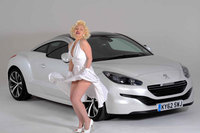 Marilyn poses with the RCZ