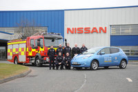Nissan Leaf joins County Durham and Darlington Fire and Rescue Service