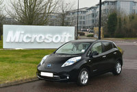 Nissan Leaf is the green option for Microsoft UK