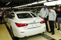 First Infiniti Q50 rolls off the Tochigi production line