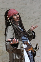 Captain Jack washes up at Wookey Hole Caves