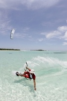 Kite-surfing season in the Maldives