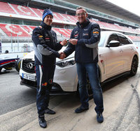 Sebastian Vettel takes delivery of his own Infiniti FX Vettel Edition