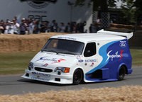 Ford Transit SuperVan 3 roars up Goodwood Hillclimb