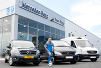 Mercedes-Benz dealer Road Range gives football star Toni a lift