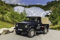 Land Rover's Electric Defender starts work at the Eden Project