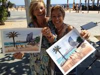One day painting classes in Barcelona