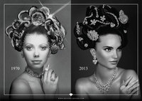 Graff Diamonds recreates their iconic Hair & Jewel image