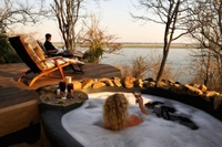 Game viewing from the hot tub!