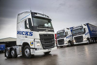 Long-time Volvo operator B & T Hicks Transport celebrate over 40 years in business
