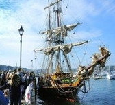 World's greenest cargo vessel heralds Falmouth's Great Tall Ships Festival