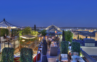 Night and day on The Roof Terrace at Grand Hotel de Bordeaux & Spa
