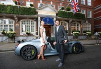 Maria Sharapova arrives at pre-Wimbledon party in new Porsche 918 Spyder