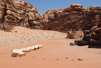 Shooting-stars in Wadi Rum