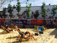 Beachside bar and rooftop movies - summer has popped up in East London