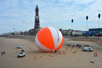 World Record for largest beach ball on Blackpool Beach