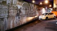 Nissan cleans up London with world's first car-powered graffiti