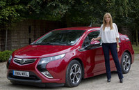 Carol Vorderman goes ultra low with the Vauxhall Ampera