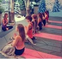 Sweat Lodge yoga at Coq d'Argent
